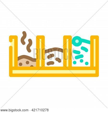 Pit Compost Color Icon Vector. Pit Compost Sign. Isolated Symbol Illustration
