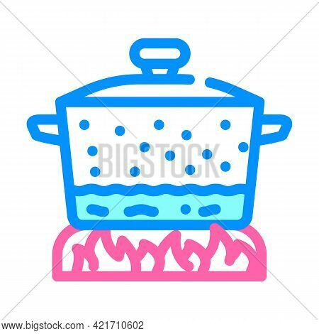 Pan For Cooking Color Icon Vector. Pan For Cooking Sign. Isolated Symbol Illustration