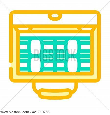Suitcase Full Of Money Color Icon Vector. Suitcase Full Of Money Sign. Isolated Symbol Illustration