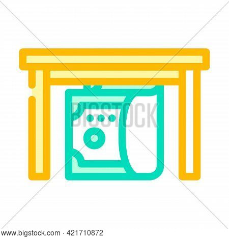 Give Bribe Color Icon Vector. Give Bribe Sign. Isolated Symbol Illustration