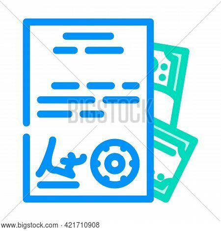 Purchase Of Documents Color Icon Vector. Purchase Of Documents Sign. Isolated Symbol Illustration