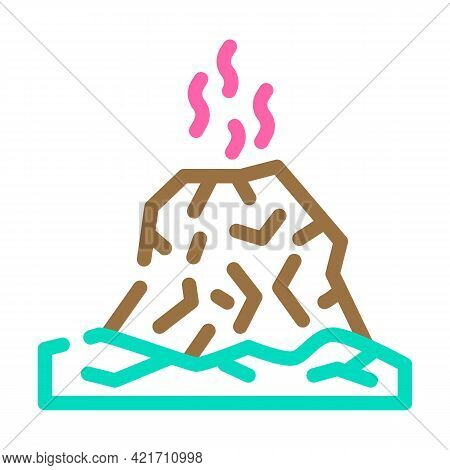 Eruption Disaster Color Icon Vector. Eruption Disaster Sign. Isolated Symbol Illustration
