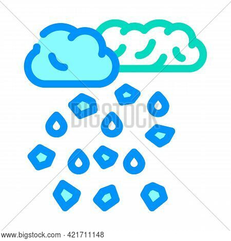 Hail Disaster Color Icon Vector. Hail Disaster Sign. Isolated Symbol Illustration