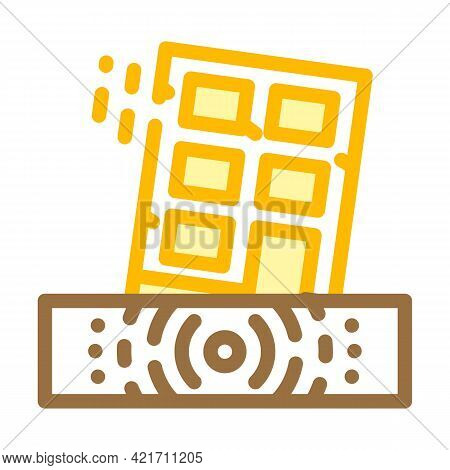 Earthquake Disaster Color Icon Vector. Earthquake Disaster Sign. Isolated Symbol Illustration