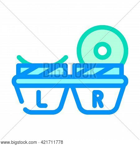 Lens Container Color Icon Vector. Lens Container Sign. Isolated Symbol Illustration