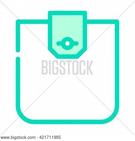 Flap Pocket Color Icon Vector. Flap Pocket Sign. Isolated Symbol Illustration