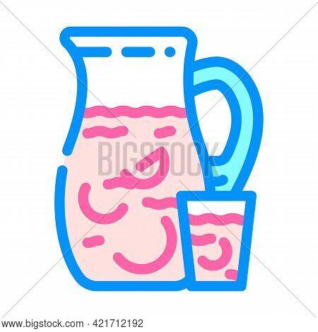 Sangria Spain Beverage Color Icon Vector. Sangria Spain Beverage Sign. Isolated Symbol Illustration