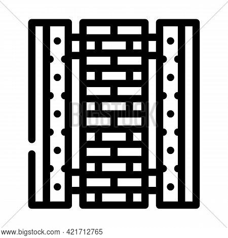 Ready Construction Building Material Line Icon Vector. Ready Construction Building Material Sign. Is