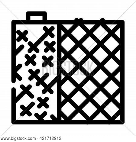 Grid Building Material Line Icon Vector. Grid Building Material Sign. Isolated Contour Symbol Black