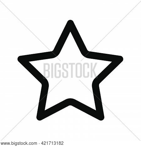 Shopping Star Or Add To Favourites Simple Isolated Icon For Apps And Websites