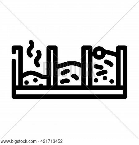 Pit Compost Line Icon Vector. Pit Compost Sign. Isolated Contour Symbol Black Illustration