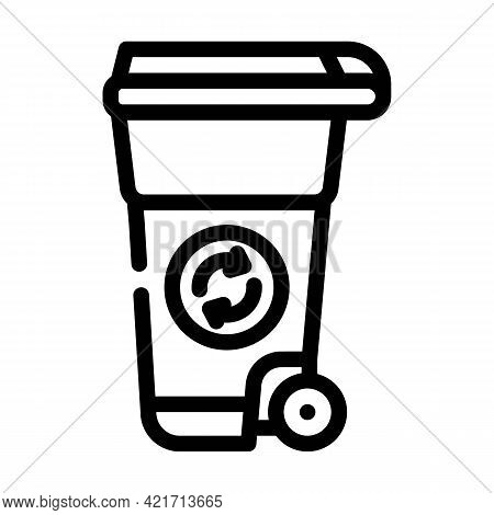 Waste Tank Compost Line Icon Vector. Waste Tank Compost Sign. Isolated Contour Symbol Black Illustra