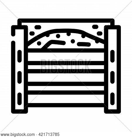 Homemade Composter Line Icon Vector. Homemade Composter Sign. Isolated Contour Symbol Black Illustra