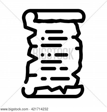 Old Recipe Cooking Line Icon Vector. Old Recipe Cooking Sign. Isolated Contour Symbol Black Illustra