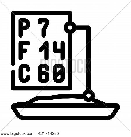 Analysis For Protein, Fat And Carbohydrates Line Icon Vector. Analysis For Protein, Fat And Carbohyd