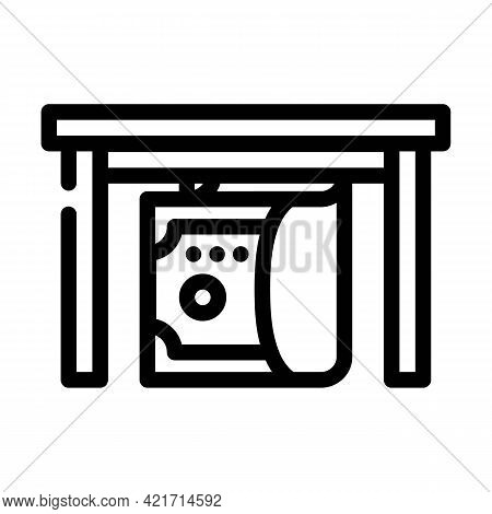 Give Bribe Line Icon Vector. Give Bribe Sign. Isolated Contour Symbol Black Illustration