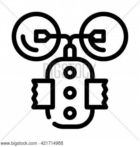 Stimulant Device Line Icon Vector. Stimulant Device Sign. Isolated Contour Symbol Black Illustration