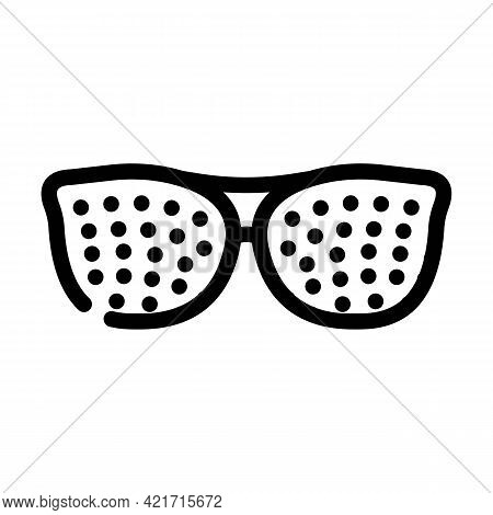 Perforated Glasses Line Icon Vector. Perforated Glasses Sign. Isolated Contour Symbol Black Illustra