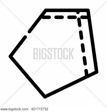 Patch Pocket For Workwear Line Icon Vector. Patch Pocket For Workwear Sign. Isolated Contour Symbol