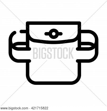 Elastic Pocket Line Icon Vector. Elastic Pocket Sign. Isolated Contour Symbol Black Illustration