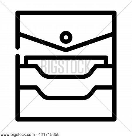 Credit Card Storage Pocket Line Icon Vector. Credit Card Storage Pocket Sign. Isolated Contour Symbo