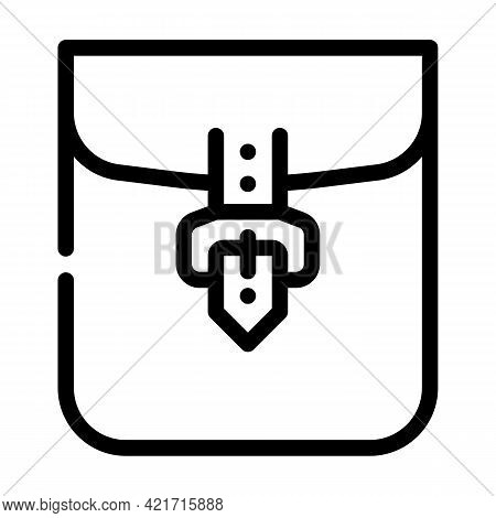Clasp Pocket Line Icon Vector. Clasp Pocket Sign. Isolated Contour Symbol Black Illustration