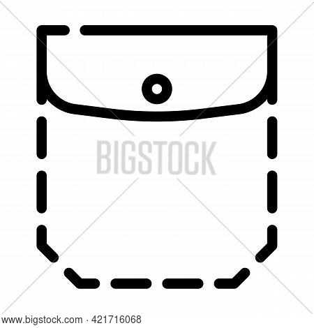 Patch Pocket With Welt Top And Flap Line Icon Vector. Patch Pocket With Welt Top And Flap Sign. Isol
