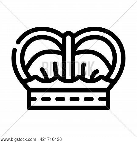 Crown Spain King Line Icon Vector. Crown Spain King Sign. Isolated Contour Symbol Black Illustration