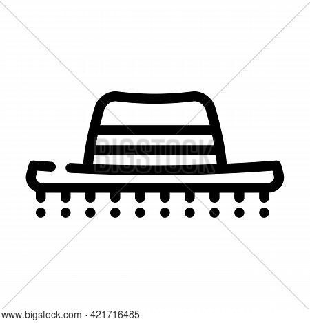 Hat Spain Line Icon Vector. Hat Spain Sign. Isolated Contour Symbol Black Illustration