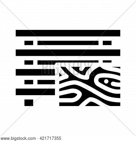 Treated Wood Building Material Glyph Icon Vector. Treated Wood Building Material Sign. Isolated Cont