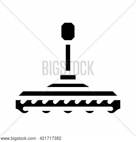 Device Nozzle For Car Polishing Glyph Icon Vector. Device Nozzle For Car Polishing Sign. Isolated Co