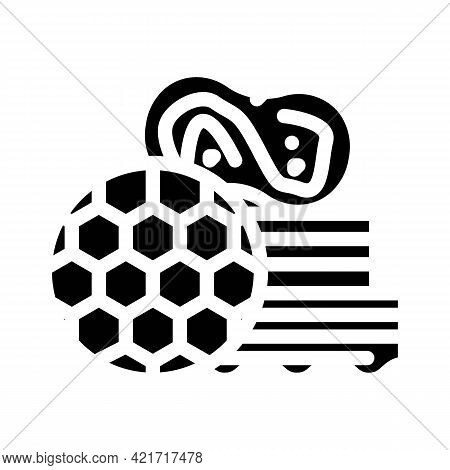 Different Sponges For Car Polishing Glyph Icon Vector. Different Sponges For Car Polishing Sign. Iso