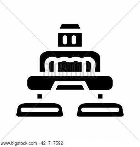 Electrical Device For Car Polishing Glyph Icon Vector. Electrical Device For Car Polishing Sign. Iso
