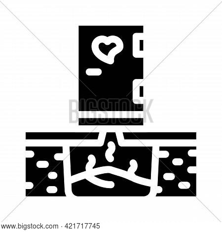 Toilet Compost Glyph Icon Vector. Toilet Compost Sign. Isolated Contour Symbol Black Illustration