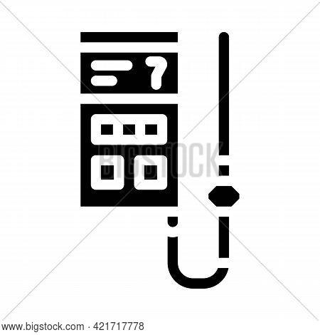 Soil Analyzer Device Glyph Icon Vector. Soil Analyzer Device Sign. Isolated Contour Symbol Black Ill