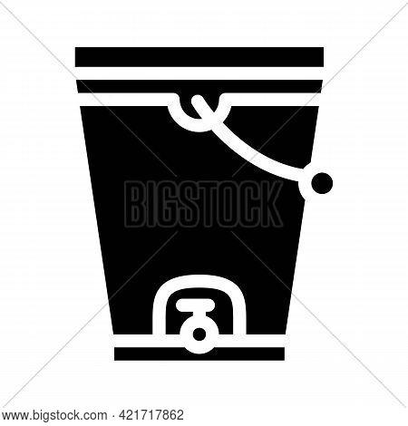Composting Bucket Glyph Icon Vector. Composting Bucket Sign. Isolated Contour Symbol Black Illustrat
