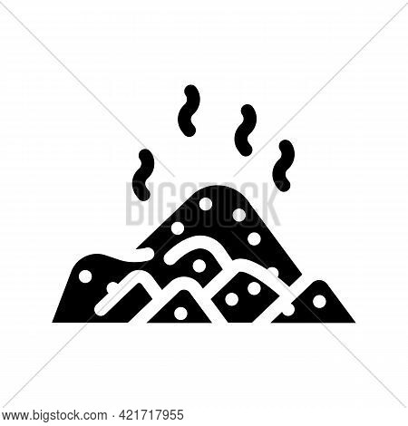 Pile Compost Glyph Icon Vector. Pile Compost Sign. Isolated Contour Symbol Black Illustration