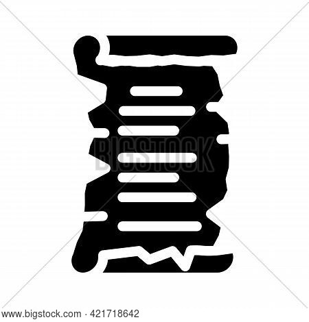 Old Recipe Cooking Glyph Icon Vector. Old Recipe Cooking Sign. Isolated Contour Symbol Black Illustr