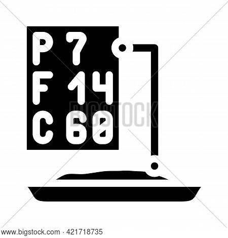 Analysis For Protein, Fat And Carbohydrates Glyph Icon Vector. Analysis For Protein, Fat And Carbohy