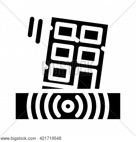 Earthquake Disaster Glyph Icon Vector. Earthquake Disaster Sign. Isolated Contour Symbol Black Illus