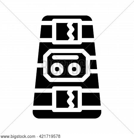 Ankle And Calf Stimulator Glyph Icon Vector. Ankle And Calf Stimulator Sign. Isolated Contour Symbol