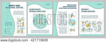 Drug And Alcohol Detox Brochure Template. Patient Treatment. Flyer, Booklet, Leaflet Print, Cover De