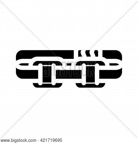 Stimulator With Strap Glyph Icon Vector. Stimulator With Strap Sign. Isolated Contour Symbol Black I