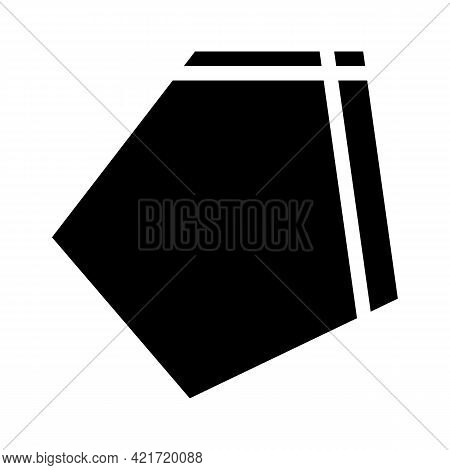 Patch Pocket For Workwear Glyph Icon Vector. Patch Pocket For Workwear Sign. Isolated Contour Symbol