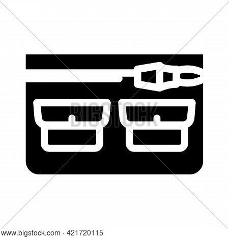 Universal Pocket Glyph Icon Vector. Universal Pocket Sign. Isolated Contour Symbol Black Illustratio