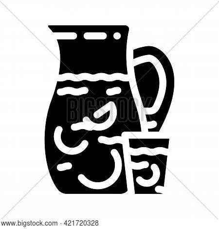 Fabada Spain Food Glyph Icon Vector. Fabada Spain Food Sign. Isolated Contour Symbol Black Illustrat