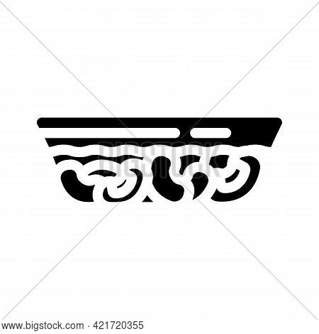 Horchata Spain Drink Glyph Icon Vector. Horchata Spain Drink Sign. Isolated Contour Symbol Black Ill