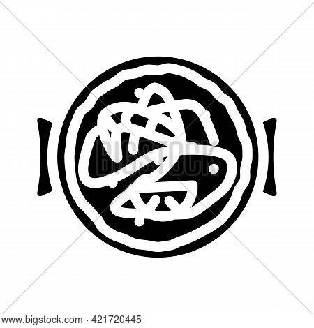 Churros Spain Snack Glyph Icon Vector. Churros Spain Snack Sign. Isolated Contour Symbol Black Illus