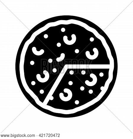 Omelet Spanish Dish Glyph Icon Vector. Omelet Spanish Dish Sign. Isolated Contour Symbol Black Illus