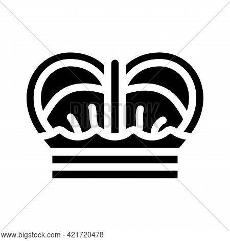 Crown Spain King Glyph Icon Vector. Crown Spain King Sign. Isolated Contour Symbol Black Illustratio